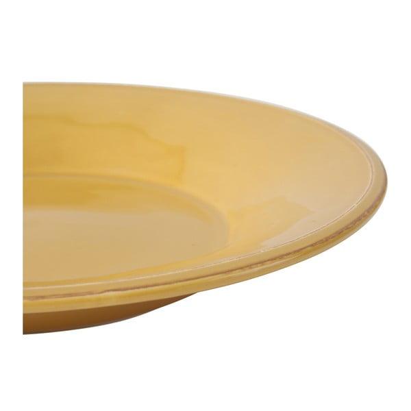 Żółty głęboki talerz kamionkowy Côté Table Const, ⌀27 cm