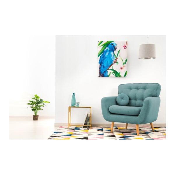 Jasnoturkusowy fotel z poduszką VIVONITA Malva