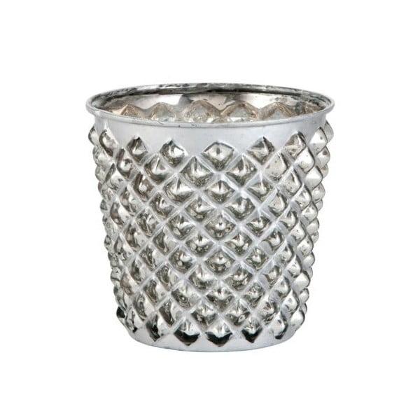 Świecznik Studs Silver, 10x10x10x cm