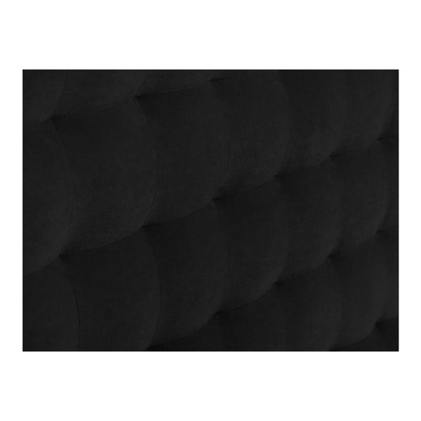 Czarny zagłówek łóżka Windsor & Co Sofas Nova, 200x120 cm