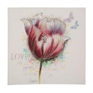 Obraz ręcznie malowany Mauro Ferretti Tulip, 80x80cm