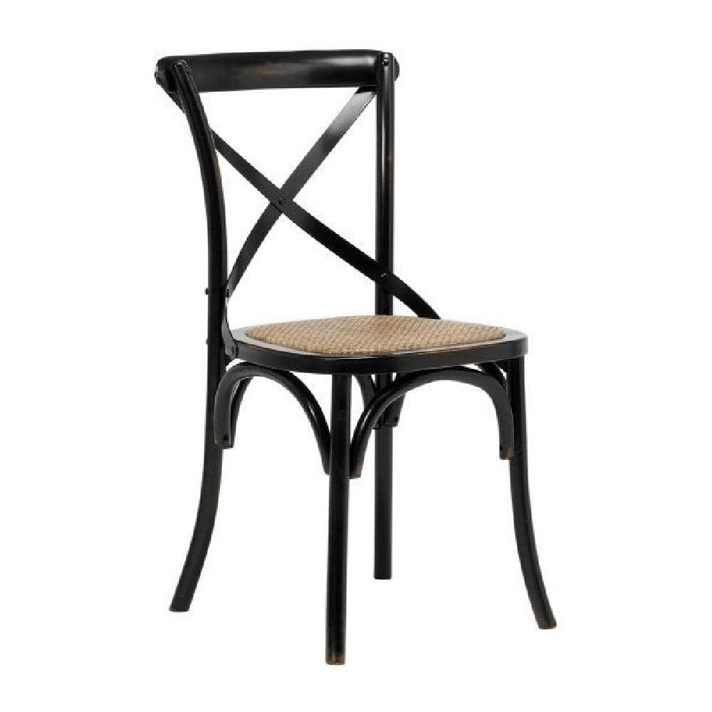 Czarne krzesło Interstil Vintage