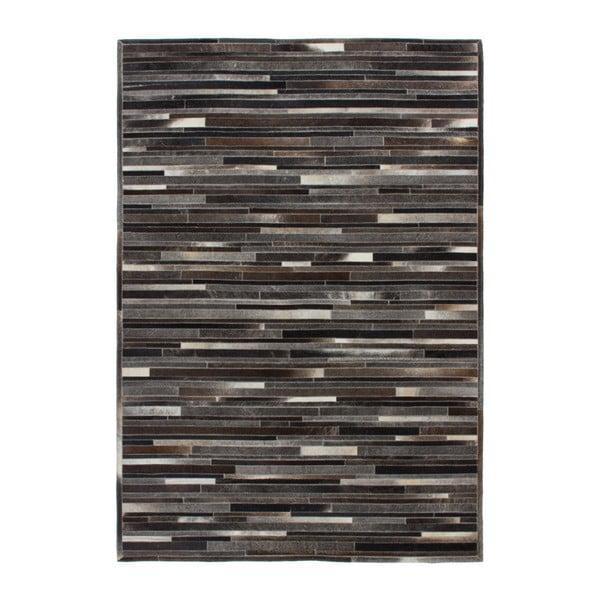 Brązowy skórzany dywan Eclipse, 160x230cm
