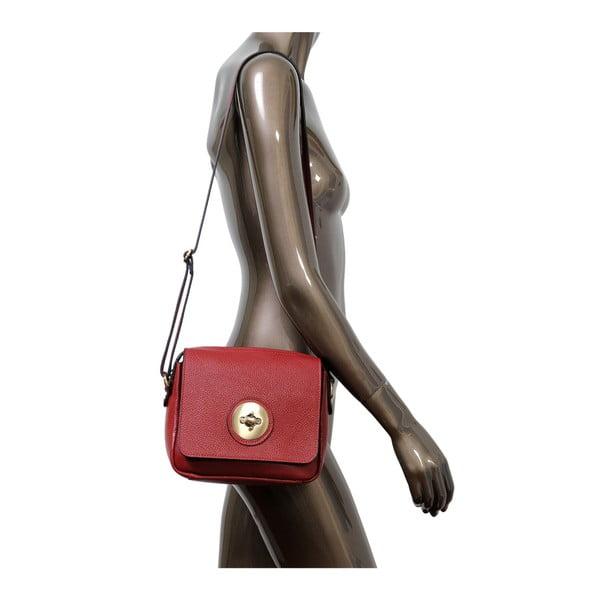 Czerwona torebka skórzana Andrea Cardone Alessio
