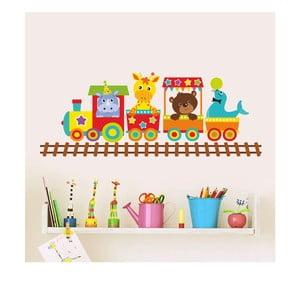 Naklejka dekoracyjna na ścianę Kolorowa lokomotywa