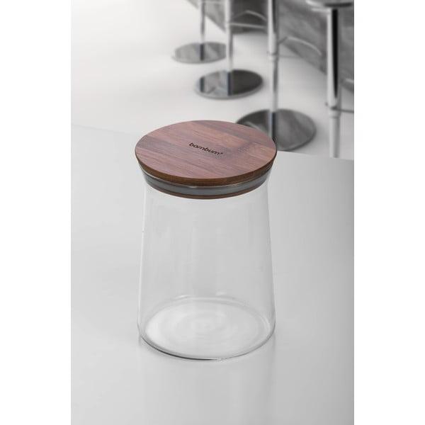 Szklany pojemnik z bambusową przykrywką Bambum Olla, ⌀16 cm