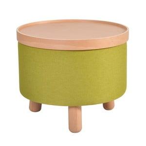Zielony stołek ze zdejmowanym blatem Garageeight Moldeze, ⌀50cm