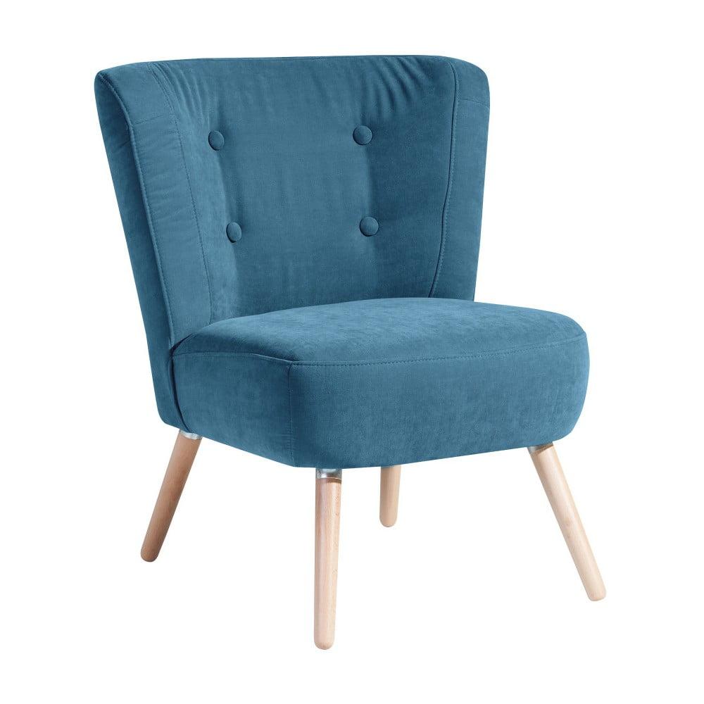 Niebieski fotel Max Winzer Neele Velor
