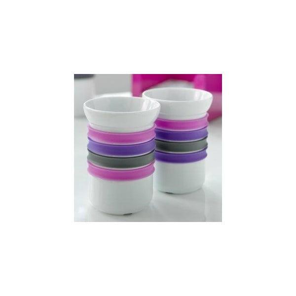 Zestaw 2 kubeczków porcelanowych na herbatę Steel Function Porto, 200 ml