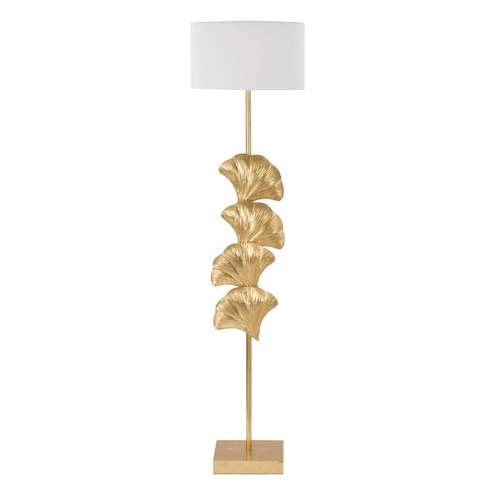 Lampa stojąca Mauro Ferretti Glamy w biało-złotym kolorze