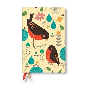 Kalendarz dzienny na 2019 rok Paperblanks Mother Robin, 9,5x14cm