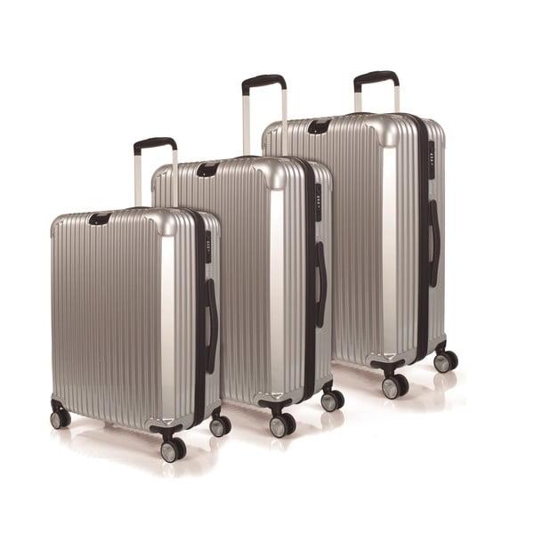 Zestaw 3 walizek Jaslen, srebrny