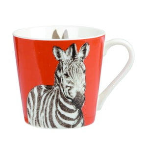 Kubek z porcelany kostnej Churchill China Couture Kingdom Zebra, 325 ml