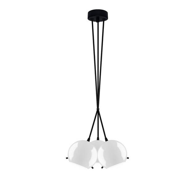 Czarno-biała potrójna błyszcząca lampa wisząca Sotto Luce MYOO Elementary 3BS