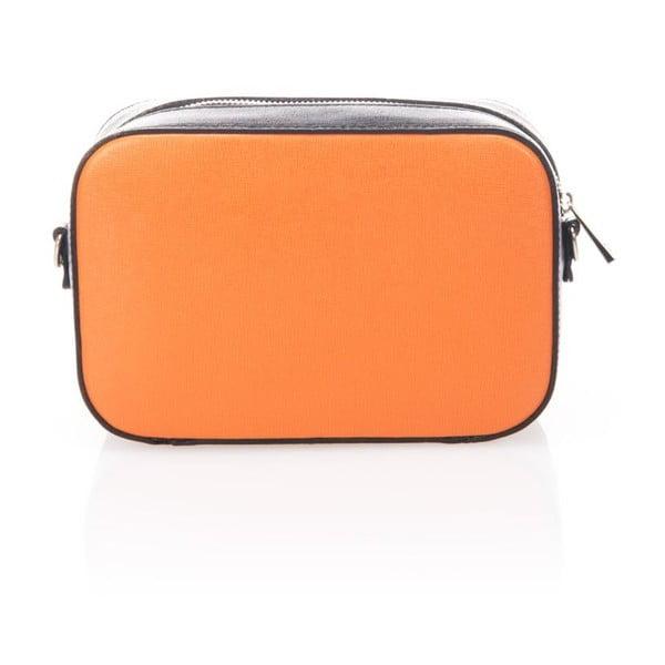 Skórzana torebka/kopertówka Krole Kath, pomarańczowa/czarna