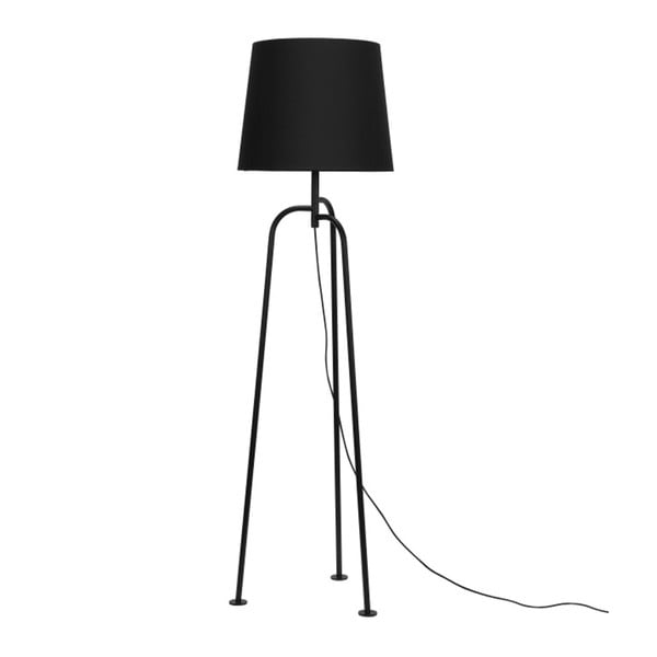 Czarna lampa stojąca Garageeight Jay