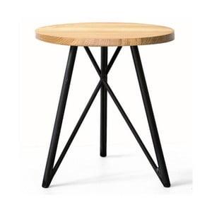 Stolik NUTSANDWOODS Oak, średnica 45 cm