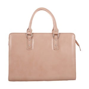 Brązowo-szara skórzana torba Camilla