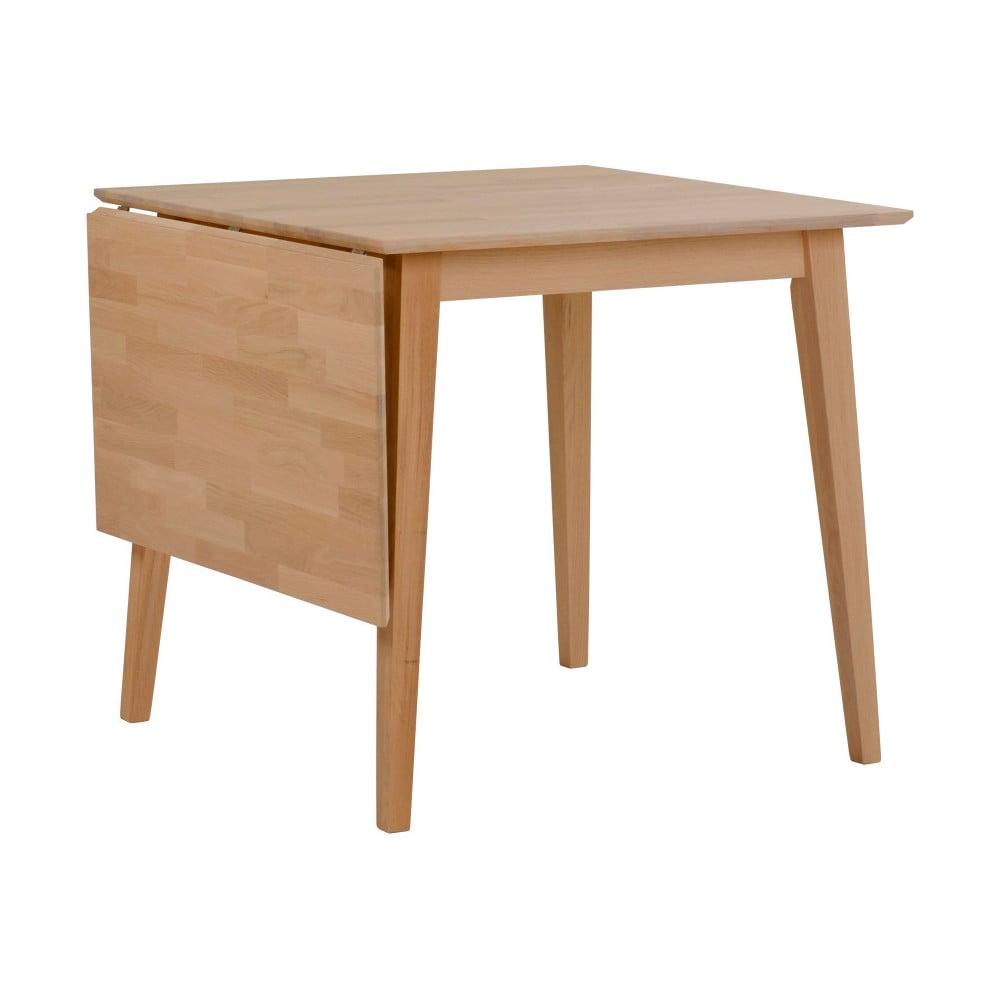 Stół z drewna dębowego z opuszczanym blatem Rowico Mimi, 80 x 80cm