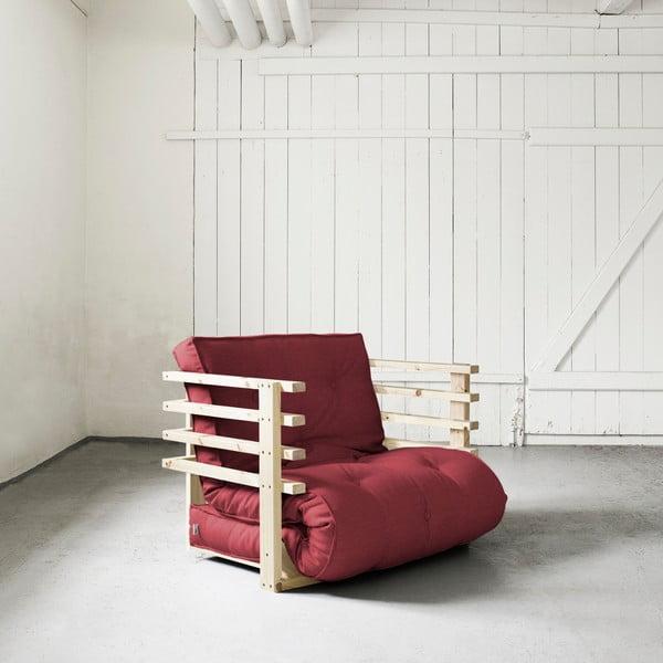Fotel rozkładany Karup Funk Natural/Bordeaux