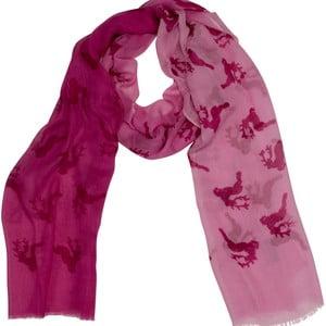 Różowa chusta Goldgeweih Lara