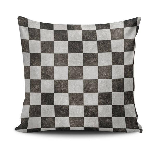 Poduszka z wypełnieniem Black and Grey, 45x45 cm