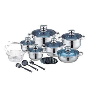 18-częściowy zestaw garnków i patelni ze stali nierdzewnej Cookware