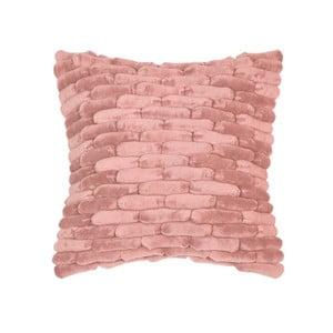 Różowa poduszka ZicZac Cobble Stone, 45x45 cm