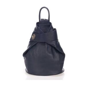 Tmavě modrý kožený batoh Lisa Minardi Narni