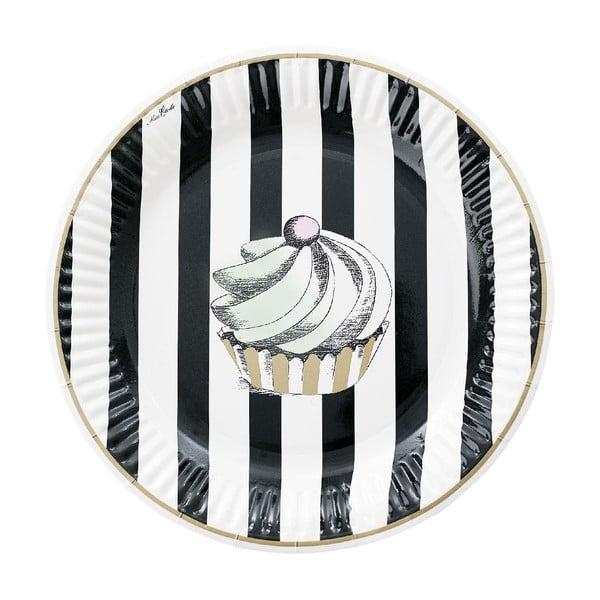 Komplet papierowych talerzy Cupcake, 8 szt.