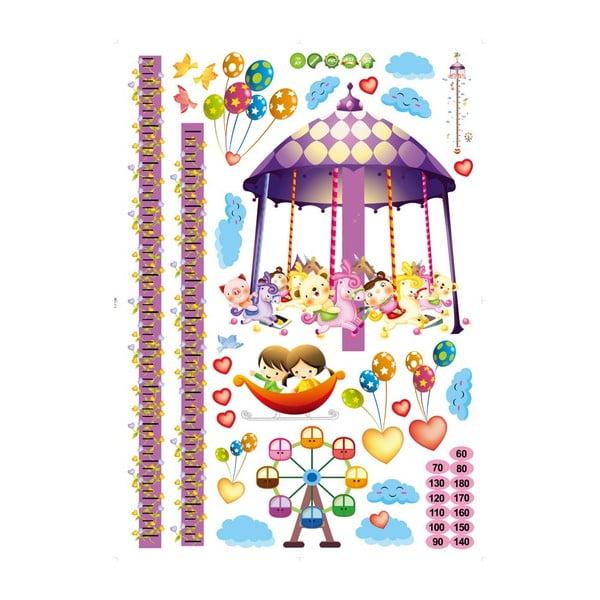 Naklejka z miarką wzrostu Fanastick Carousel and Balloons