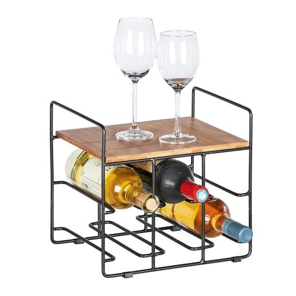 Stojak na 6 butelek wina z bambusową półką Wenko Loft