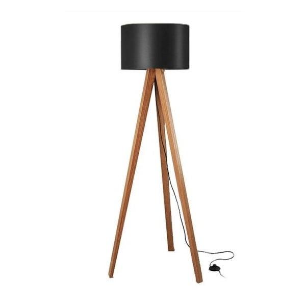 Lampa stojąca Tripod Black/Walnut