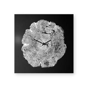 Zegar ścienny dESIGNoBJECT.it Life Black,50x50cm