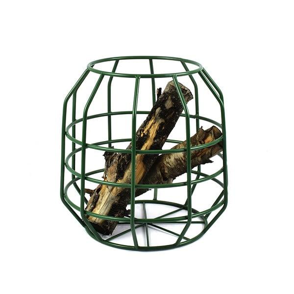 Zielony stolik z drewnianym blatem HF Living Peak