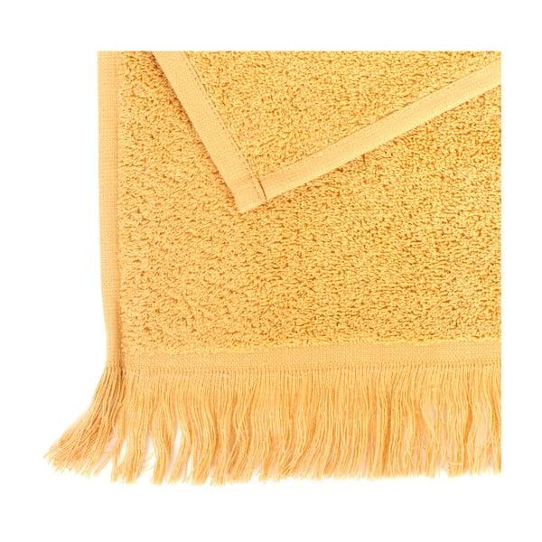 Komplet 4 żółtych ręczników bawełnianych Casa Di Bassi Sun, 50x90 cm
