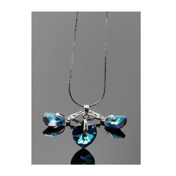 Komplet Swarovski Elements Little Hearts Blue