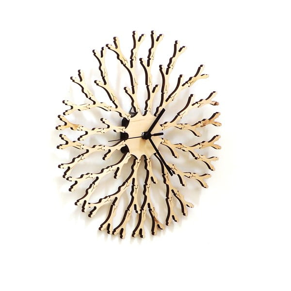 Zegar drewniany Dandelion, 29 cm