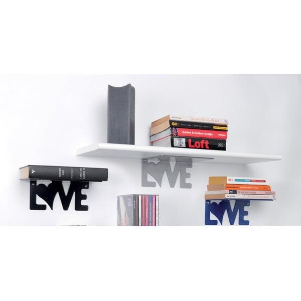 Półka Love, srebrna
