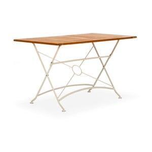 Biały składany stół ogrodowy z drewna akacjowego SOB
