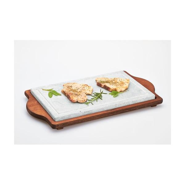 Taca z deską kamienną Stone Plate, 30x52 cm
