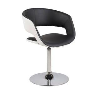 Czarno-białe krzesło Actona Grace