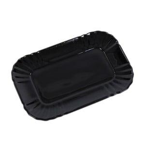 Szklany talerzyk Kaleidos, czarny