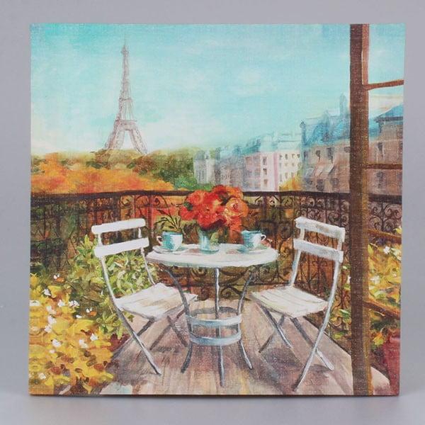 Obraz na płótnie Paris Morning, 38x38 cm