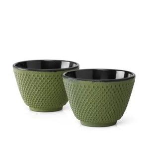 Zestaw 2 zielonych czarek żeliwnych Bredemeijer Xilin