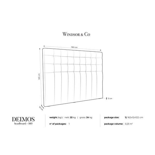 Kremowy zagłówek łóżka Windsor & Co Sofas Deimos, 160x120 cm