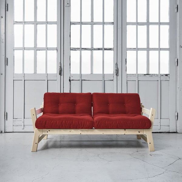 Sofa rozkładana Karup Step Natural/Passion Red