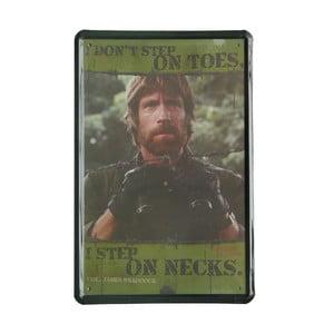 Tablica Chuck Norris, 20x30 cm