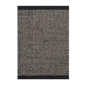 Dywan wełniany Asko Black, 70x140 cm