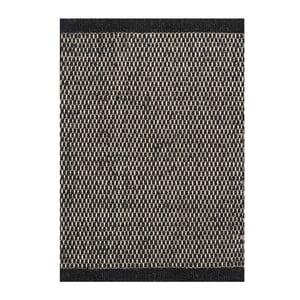 Dywan wełniany Asko Black, 140x200 cm